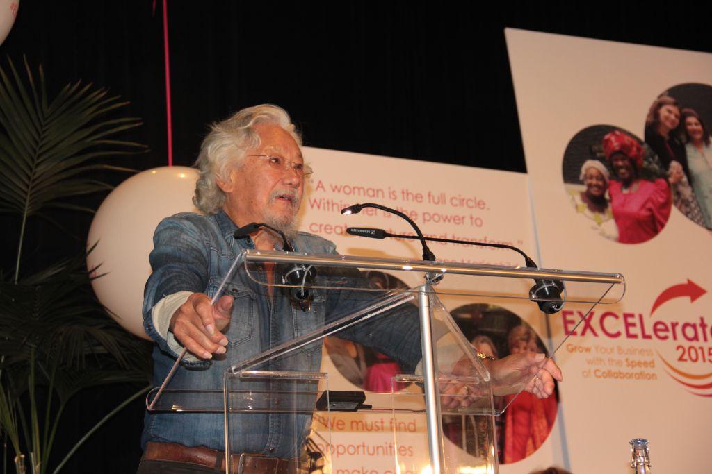 David Suzuki speech Presentation | Inspire Innovate Influence Conference 2017 | Bank of Montreal BMO 200 | Vancouver Langley Surrey 2019 | Barbara Mowat EXCELerate 2020 | GroYourBiz