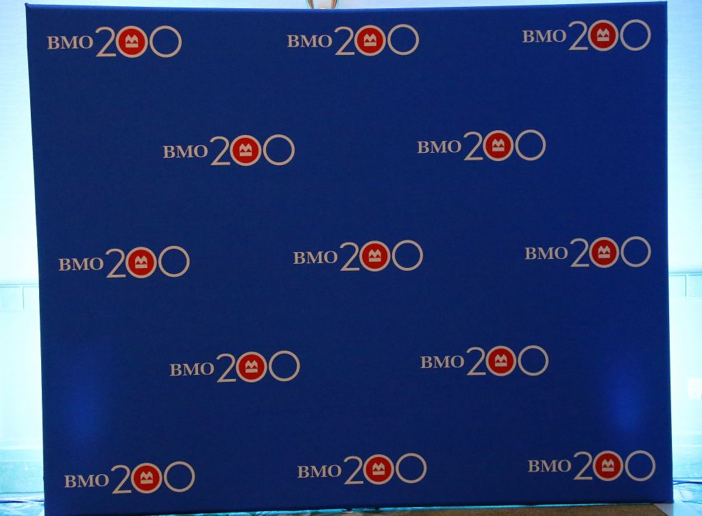 BMO Trade show Banner Backdrop Representatives | Inspire Innovate Influence Conference 2017 | Bank of Montreal BMO 200 | Vancouver Langley Surrey 2019 | Barbara Mowat EXCELerate 2020 | GroYourBiz