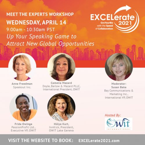 EXCELerate 2021 Up Your Speaking Game