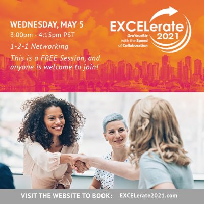 EXCELerate 2021 May 5 1-2-1 Networking
