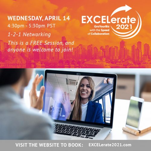 EXCELerate2021 1-2-1 Networking Women IN Business